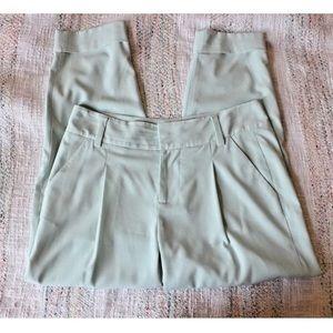 Alice + Olivia Mint Arthur Slack Crop Ankle Pants